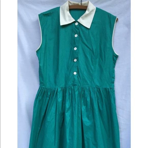 Vintage Dresses & Skirts - VINTAGE 1950s Cotton Dress